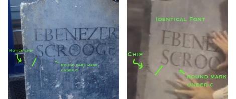 Ebenezer Scrooge's Tombstone