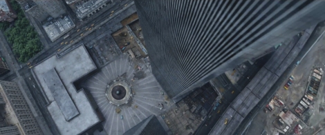 full on matte painting of World Trade Center Plaza