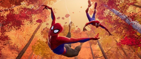 Into the Spider-verse forest chase shot